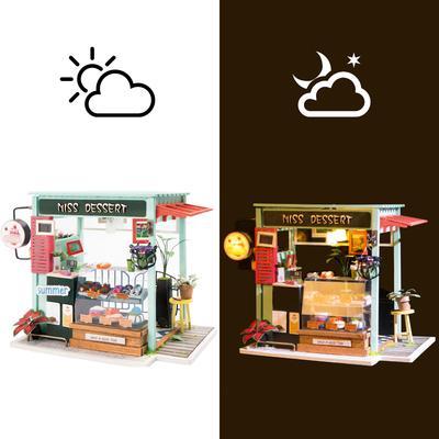 DIY bouwpakket Winkeltje 'Ice Cream Station' - Robotime